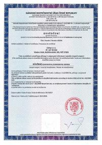 Certificate of Facility Security Clearance
