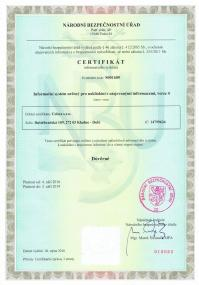 Company Information System Clearance Certificate